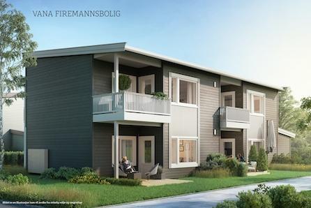 1 solgt! Nye leiligheter i firemannsbolig i etablert boligfelt.