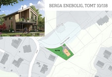 Situasjonsplanene viser forslag til plassering av boligen på tomten.