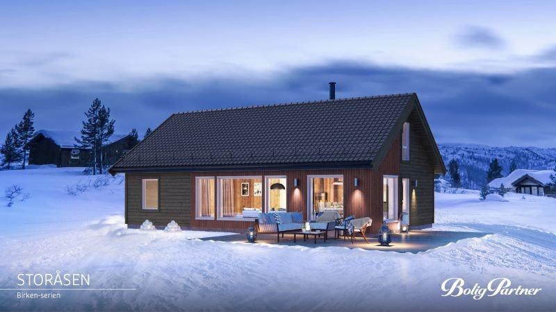 Tomt og komplett prosjektert sportshytte m/stor hems ved baseområdet. Et nytt og spennende område ca 90 min. fra Oslo