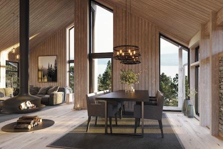 NYHET! Moderne hytte på utsiktstomt i Malangen