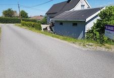Bilde fra eiendommen mot krysset i Oldervegen.