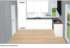 Illustrasjon av kjøkken som er inkludert i prisen.