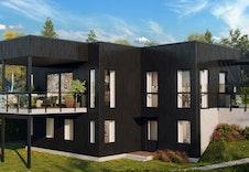 Forslag til hus som kan passe tomtene.