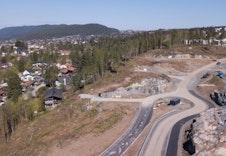 Dronebilde av tomtefeltet i Gamlegrendåsen.