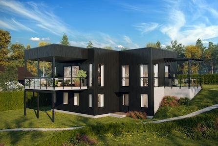 Gamlegrendåsen. Råstilig arkitekttegnet funkisbolig på solrik tomt!