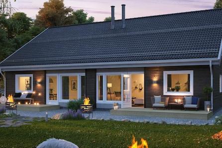 Flott beliggende tomannsbolig med meget god planløsning - carport og sportsbod - Haugsbygd - Hønefoss