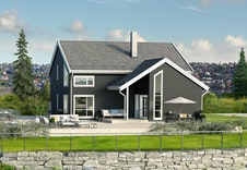 Dette er kun en illustrasjon av tenkt bolig på tomten. Illustrasjonen vil vike fra virkeligheten og gjenigr ikke korrekt tomt og beliggenhet.