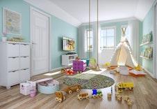 Loftsstue eller lekerom. Kan enkelt gjøres om til et ekstra soverom ((illustrasjon kan avvike fra virkelig miljø og omgivelser)