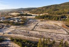 Byggefeltet før byggingen startet.