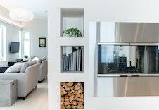 Illustrasjon av stue. Kan avvike fra virkelig miljø og omgivelser.