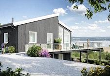 Ulleråsen 33. Her ser vi hvordan utsikten fra boligen kan bli. Bildet er en illustrasjon som kan avvike fra virkelig miljø og omgivelser.