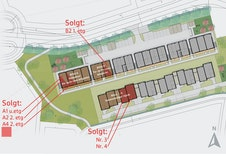 3- og 4-roms leilighetene ligger i bygg B