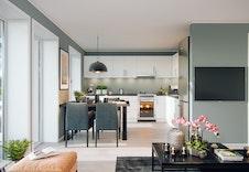 Lys og fin spiseplass i tilknytning til kjøkkenet