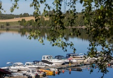 Båthavnen i Sørumsand.