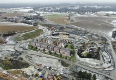 Slik vil feltet se ut når boligene er ferdig oppført.