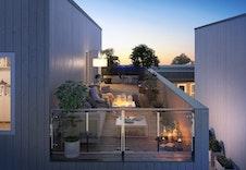 Store, solrike og usjenerte takterrasser.