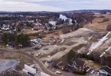 Oversiktsbilde over utbyggingen på feltet. Til høyre på bildet ser du hvor boligene til BoligPartner skal bygges.
