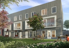 1- og 2-roms leilighetene ligger i underetasjen i bygg A.