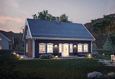 Huset Bjørkli har en meget arealeffektiv planløsning med bla. 4 soverom og 2 bad.