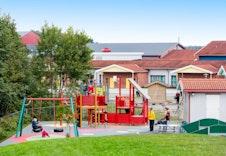 Bilde fra en av barnehagene på feltet