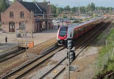 Flere togstasjoner i kort kjøreavstand gir gode muligheter for pendling.