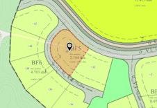 Tomtens plassering på kart.