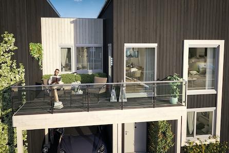 Maura / Nannestad // 4 nye, moderne eneboliger i rekke. 4 sov., 2 bad, 2 balkonger, carport. Få ferdig innredet bolig!*