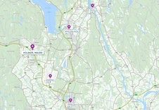 Boligfeltet har kort avstand til flyplassen (Gardermoen)  Jessheim og Råholt.