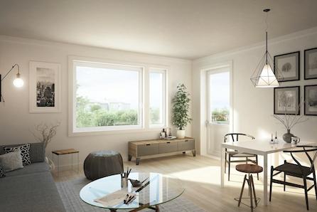 Maura / Nannestad // Nye  2-roms leil. med moderne standard, god planløsning og carport. Få med hvitevarer for kr 50.000