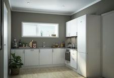 Hus I - Kjøkkenet i eneboligene blir romslig og man får god plass til å kokkelere. (Dette er en illustrasjon og kan fravike fra virkelige omgivelser)
