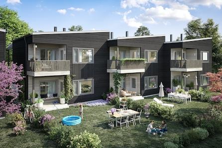 Maura / Nannestad // Nye flotte 4-roms leiligheter med god planløsning, overbygde terrasser og ettermiddagssol. Carport.