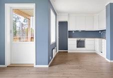 Kjøkkenet i en tilsvarende  leilighet i et annet boligprosjekt.   ( Bildet kan avvike fra leveransen i dette boligprosjektet.)