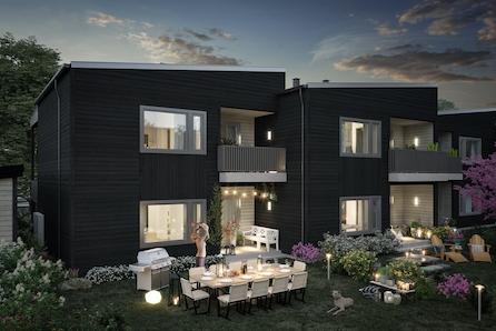 Maura/Nannestad. Prisgunstige nye 3-roms leil. med god planløsning. Overbygde terrasser med ettermiddagssol. 50 % solgt.