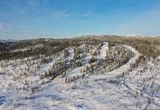 Alpinbakke/varmestue åpnet vinterferien 2020, beliggende ved baseområdet