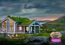 Farmen-vinnerens hyttemodell (illustrasjon), se foto av modellen i bilder