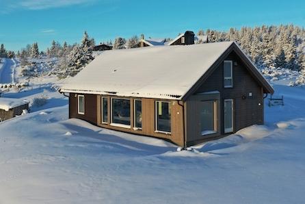 Praktisk familiehytte m/stor lukket hems, inkl tomt (H73) og grunnarbeider. Nært alpint/langrenn og turmuligheter.