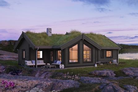 Norefjell/Brennkollen - Bukkespranget et en romslig familiehytte med 102 kvm gulvareal og flott lysinnslipp