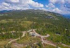 Område bilder fra Brennkollen på Norefjell. Hyttefeltet ligger solrikt til med kort avstand til alpinanlegget.