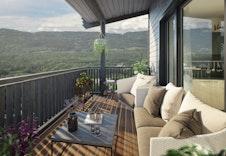 Fantastisk utsikt fra balkongen.