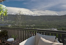 Fantastisk flott utsikt fra balkongen til Randsfjorden