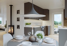 Illustrasjon av kjøkken i hus 5-8