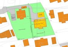 Sit.plan med plassering av bolig på tomt