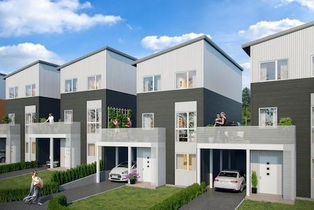 Ny bolig med stor terrasse og mulighet for 4 soverom. 1 av 2 solgt.