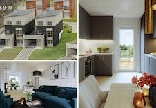Illustrasjonsbilder av hus 9 og 10.