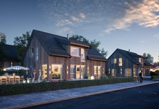 (Illustrasjon) Moderne variant av Bjørkli som også kan bygges på disse tomtene.