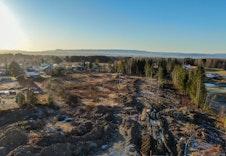 Dronefoto av feltet