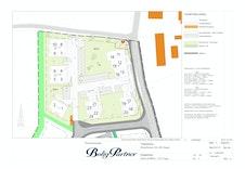Tomannsboligen er leilighet 1 og 2 på situasjonsplanen til  Slettvoll BKS1.