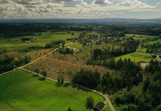 Dronefoto av området