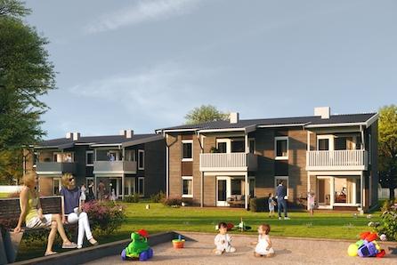 SLETTVOLL- Nytt boligprosjekt i barnevennlig og solrikt område ca 12 min. fra sentrum. Selges med Dobbeltboligforsikring