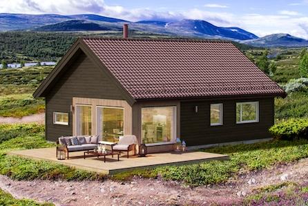 VISNING LØRDAG 06.06 KL 16-KAMPANJE! Koselig og praktisk hytte med 3 soverom i et fantastisk tureldorado 1,5 t. fra Oslo